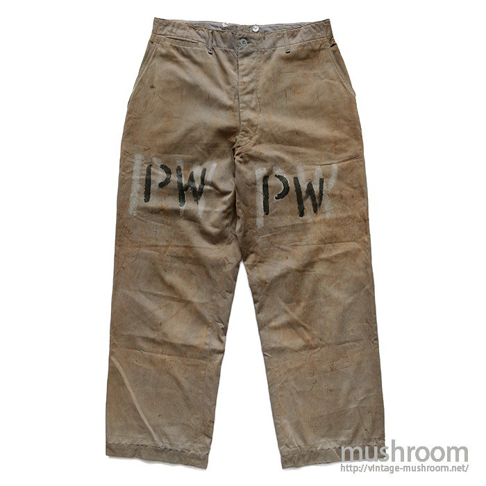 WW2 U.S.ARMY KHAKI TROUSERS FOR POW
