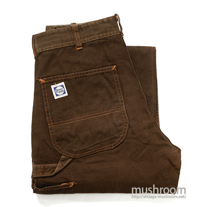 SWEET-ORR BROWN DUCK PAINTER PANTS