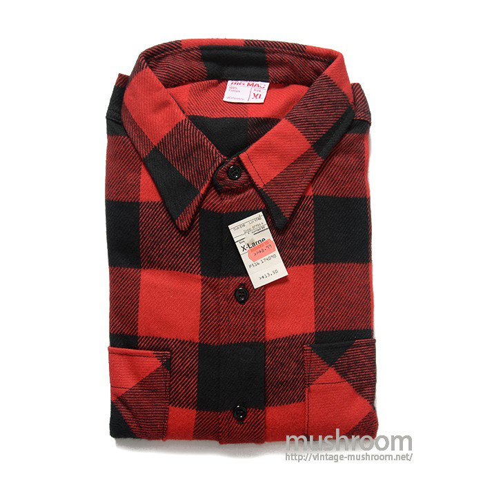 BIG MAC PLAID FLANNEL SHIRT( XL/DEADSTOCK )