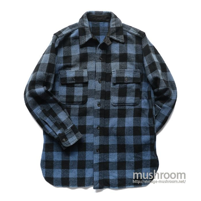 OLD PLAID WOOL SHIRT WITH CHINSTRAP
