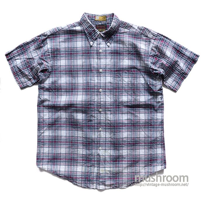 GRADUATE MADRAS PLAID COTTON SHORT SLEEVE BD SHIRT