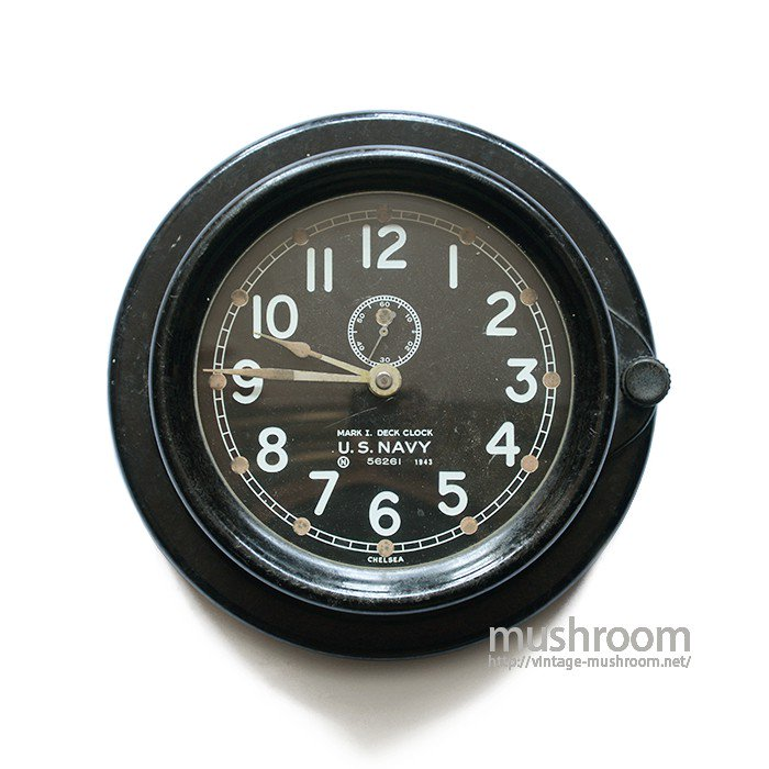 WW2 U.S.NAVY MARK1 DECK CLOCK