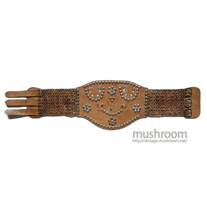 OLD STUDDED JEWEL KIDNEY BELT( DEADSTOCK )