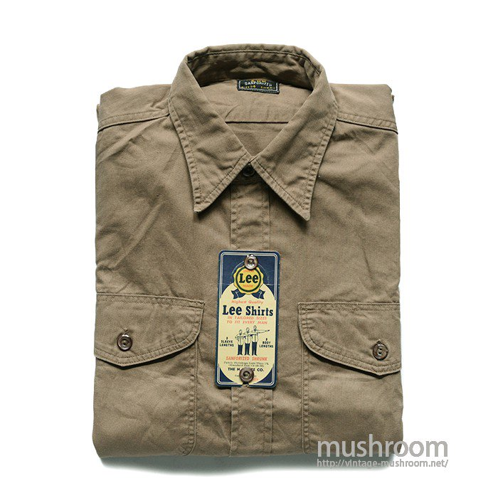 Lee COTTON WORK SHIRT( 14SHORT/MINT )
