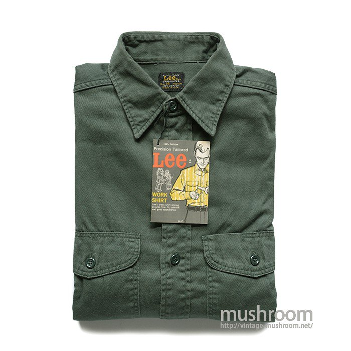 Lee COTTON WORK SHIRT( 14MEDIUM/MINT )