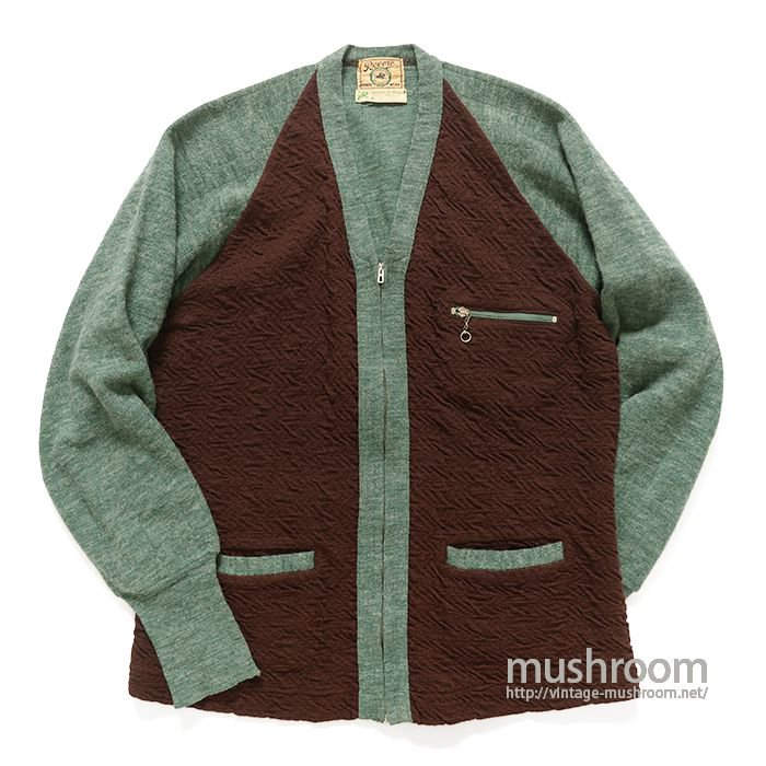REVERE TWO TONE WOOL CARDIGAN( MINT )