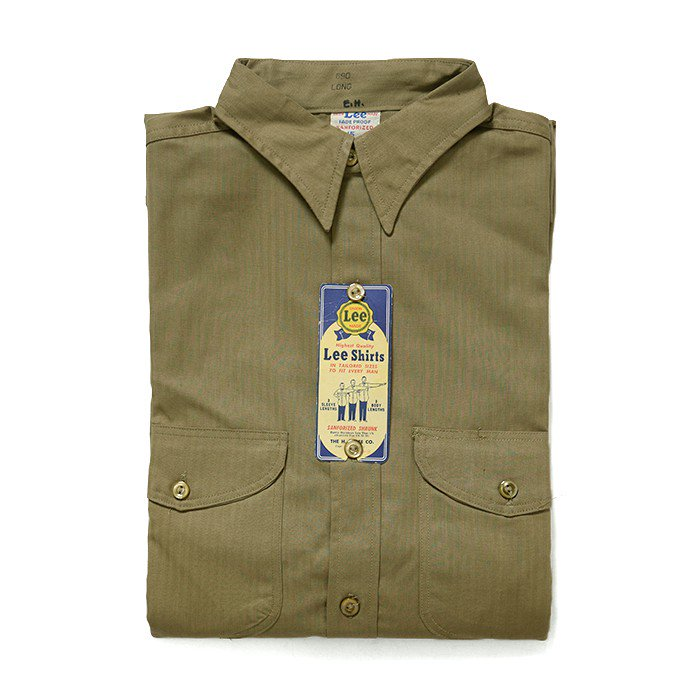 Lee HBT WORK SHIRT( 15LONG/DEADSTOCK )