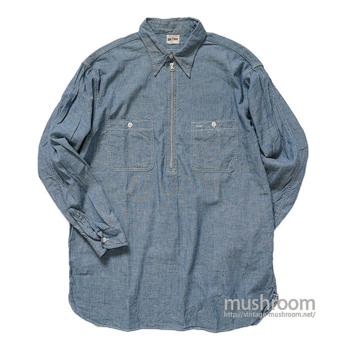 BIG YANK HALF-ZIP CHAMBRAY WORK SHIRT( MINT )