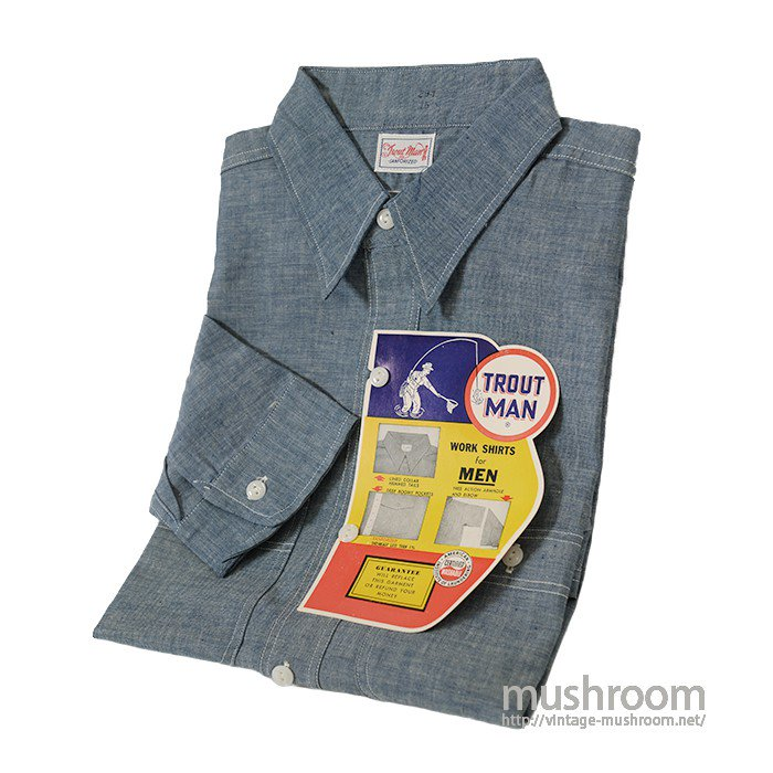 TROUT MAN CHAMBRAY WORK SHIRT( 15/DEADSTOCK )