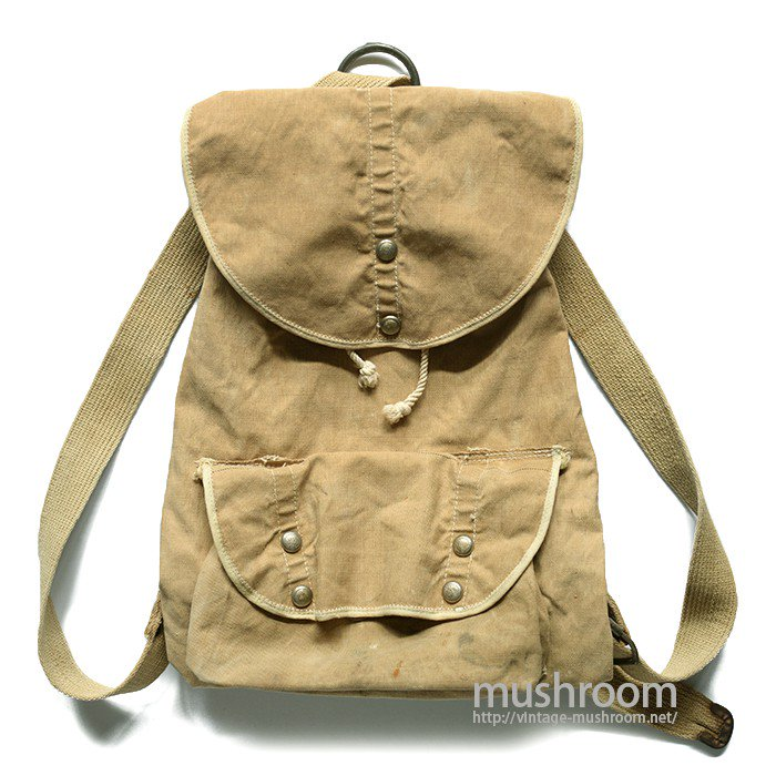 OLD CAMPING CANVAS RUCKSACK