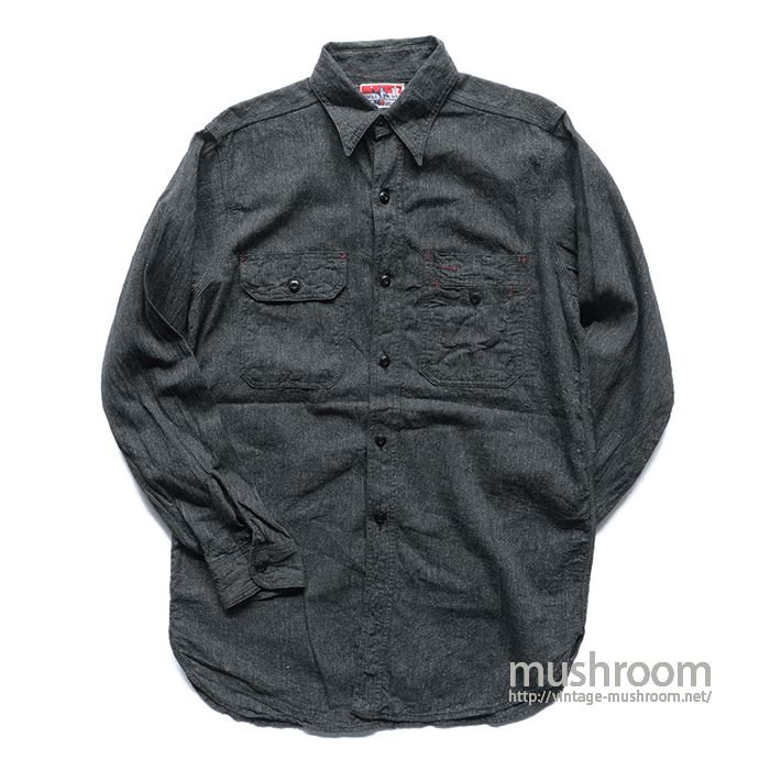 UNCLE SAM BLACK CHAMBRAY WORK SHIRT( 15/ONE WASHED )