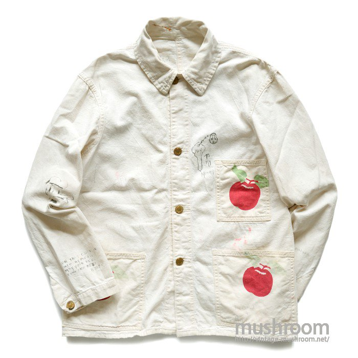 DUBBLE WARE COTTON COVERALL WITH HAND-PAINTED