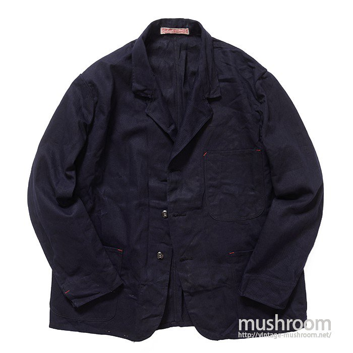 CARHARTT NAVY COTTON WORK JACKET( DEADSTOCK )