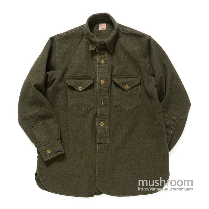 FILSON WOOL SHIRT WITH CHINSTRAP( BUT..CHINSTRAP IS OUT )
