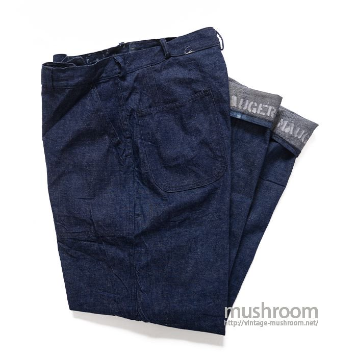 WW2 USN DUNGAREE DENIM TROUSER( ONE WASHED )