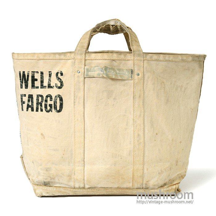 OLD WELLS FARGO CANVAS MONEY BAG