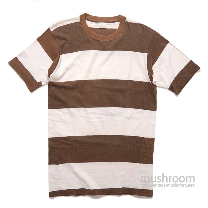 TOWNCRAFT WIDE BORDER  STRIPE T-SHIRT