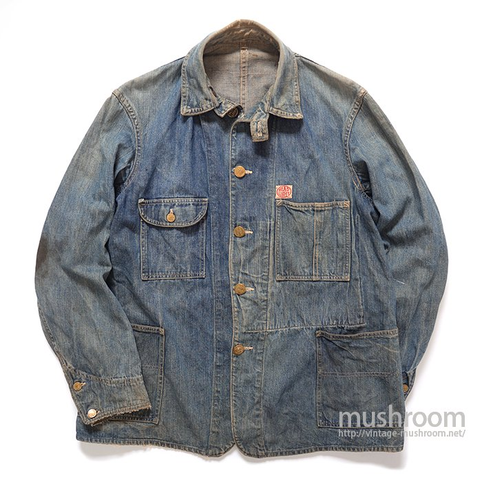 HEAD LIGHT DENIM COVERALL WITH CHINSTRAP