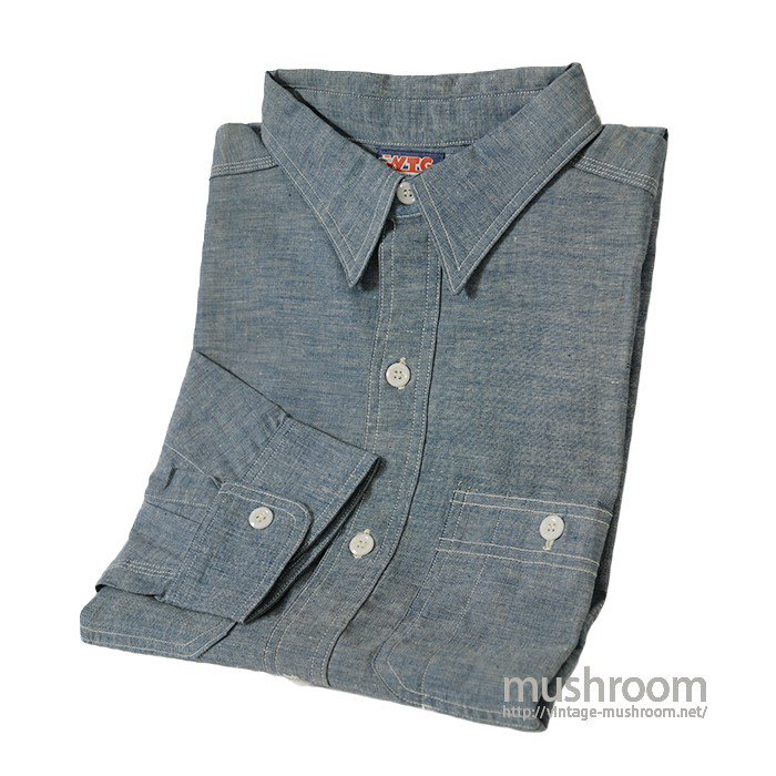 WTG CHAMBRAY WORK SHIRT( 17H/DEADSTOCK )