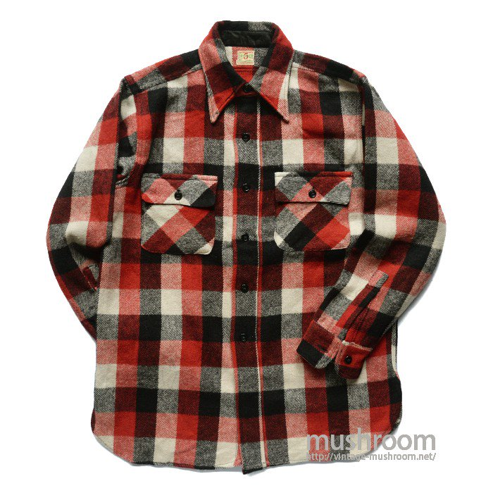 5BROTHER PLAID WOOL FLANNEL SHIRT( MAYBE..DEADSTOCK )