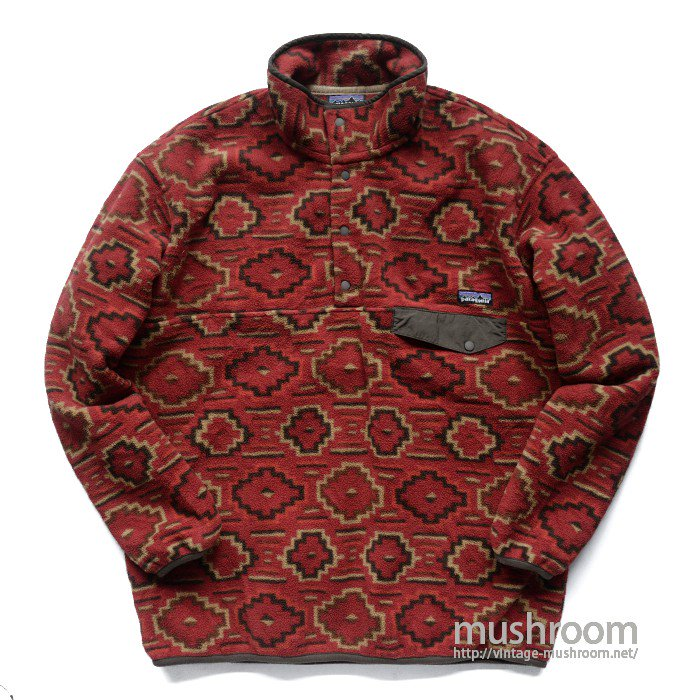 PATAGONIA SNAP-T FLEECE JACKET( L/NAVAJO PATTERN )