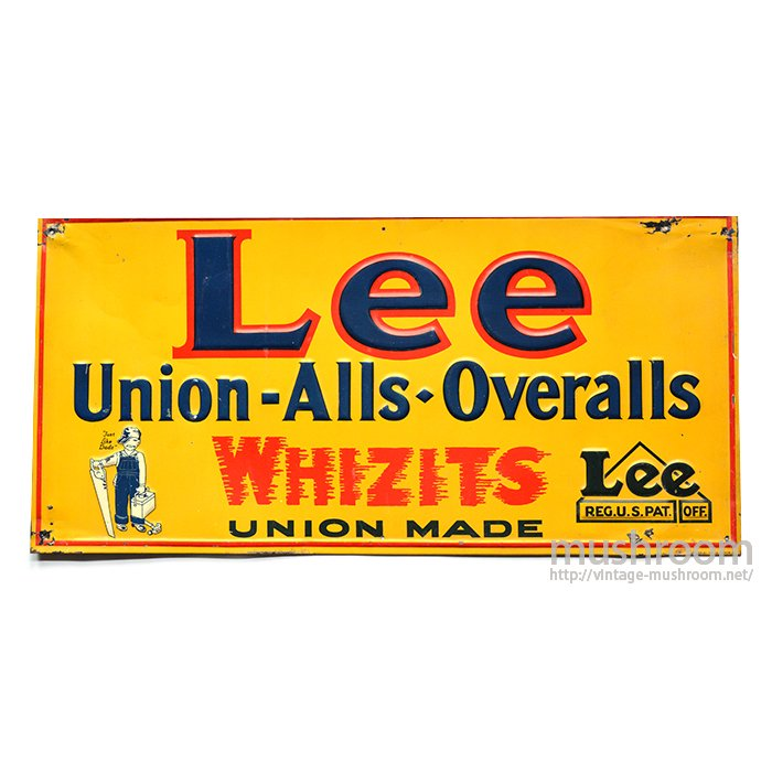 Lee WHIZIT ADVERTISING SIGN