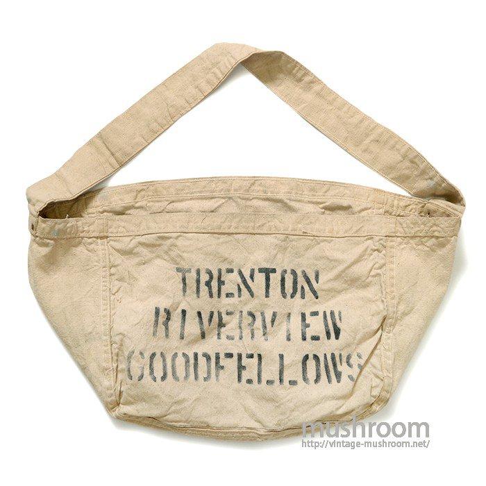 OLD NEWSPAPER CANVAS SHOULDER BAG( MINT )