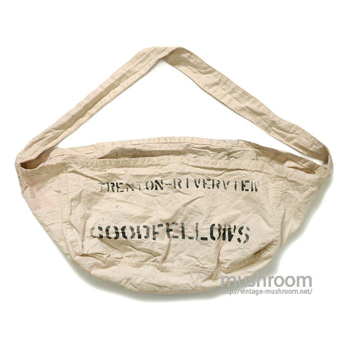 OLD NEWSPAPER CANVAS SHOULDER BAG( MINT )
