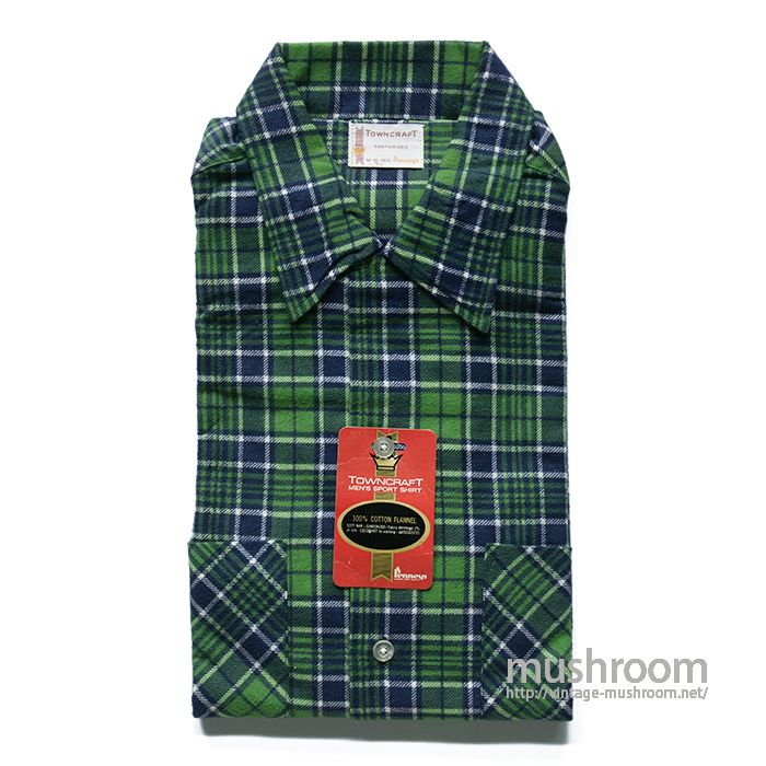 TOWNCRAFT PLAID FLANNEL BOX SHIRT( M/DEADSTOCK )