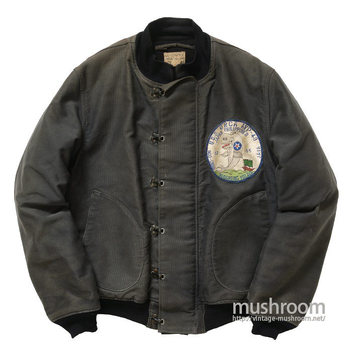 USN DECK JACKET WITH SCORDRON PATCH