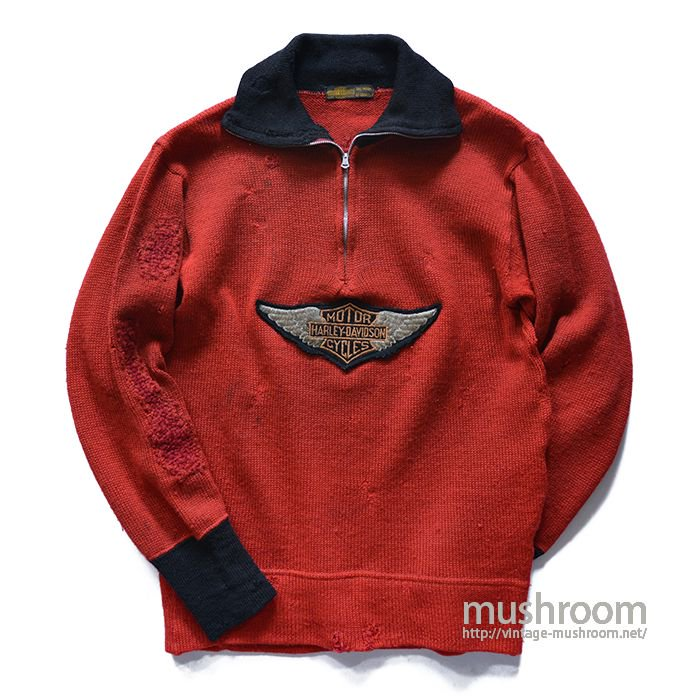 HARLEY-DAVIDSON SILVER WINGS TURTLEZIP SWEATER