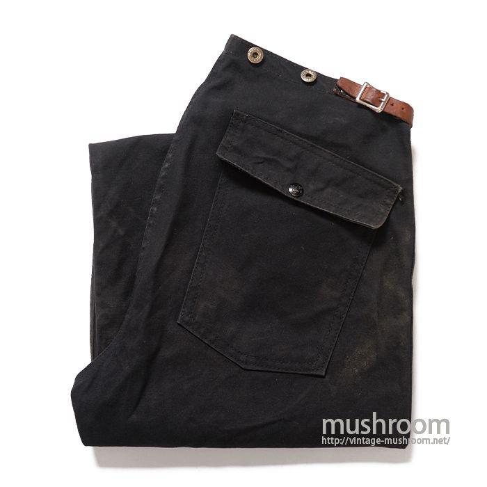 BODY GUARD BLACK CANVAS FIREMAN'S PANTS