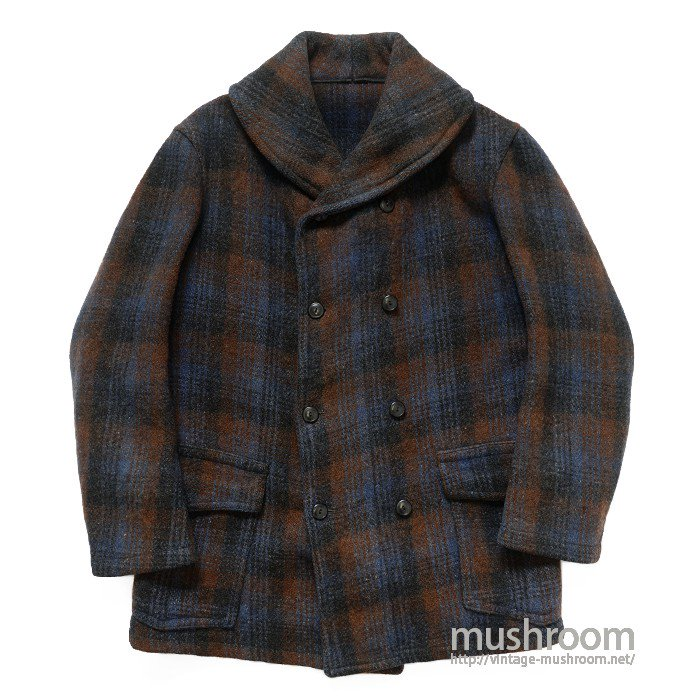OLD SHAWLCOLLER PLAID MACKINAW COAT