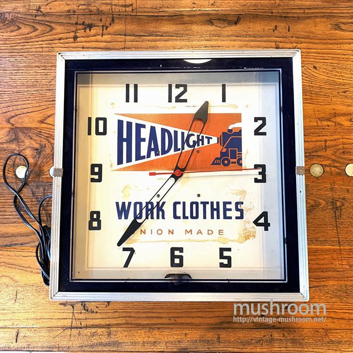 HEAD LIGHT ADVERTISING SIGN WALL CLOCK