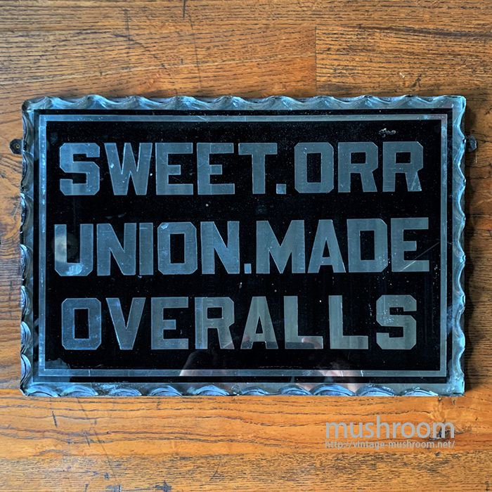 SWEET ORR ADVERTISING MIRROR