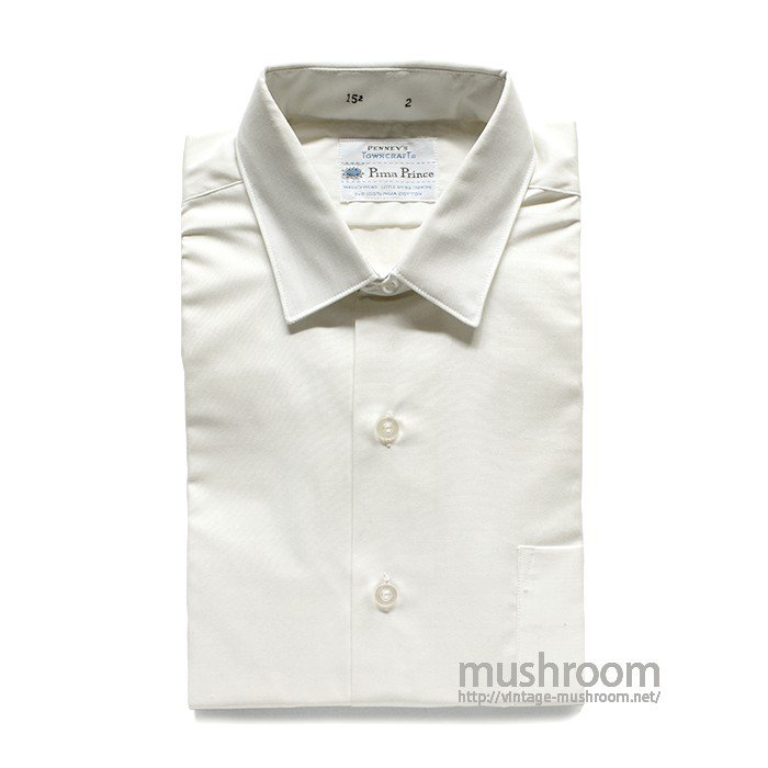 TOWNCRAFT WHITE COTTON SHIRT( 15-2/DEADSTOCK )