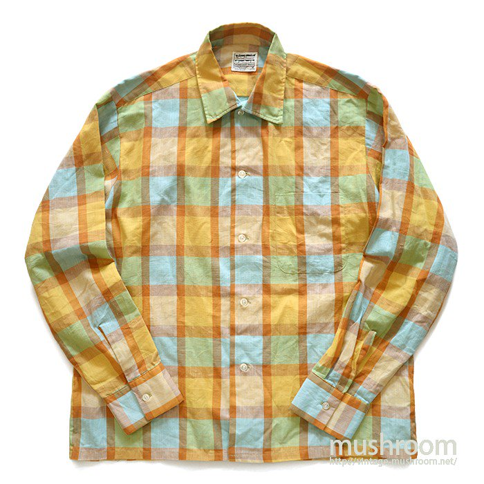 SUTTON SQUARE PLAID BOX SHIRT( M/MINT )