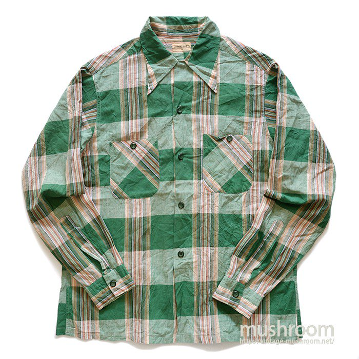 TOWNCRAFT PLAID BOX SHIRT( M/MINT )