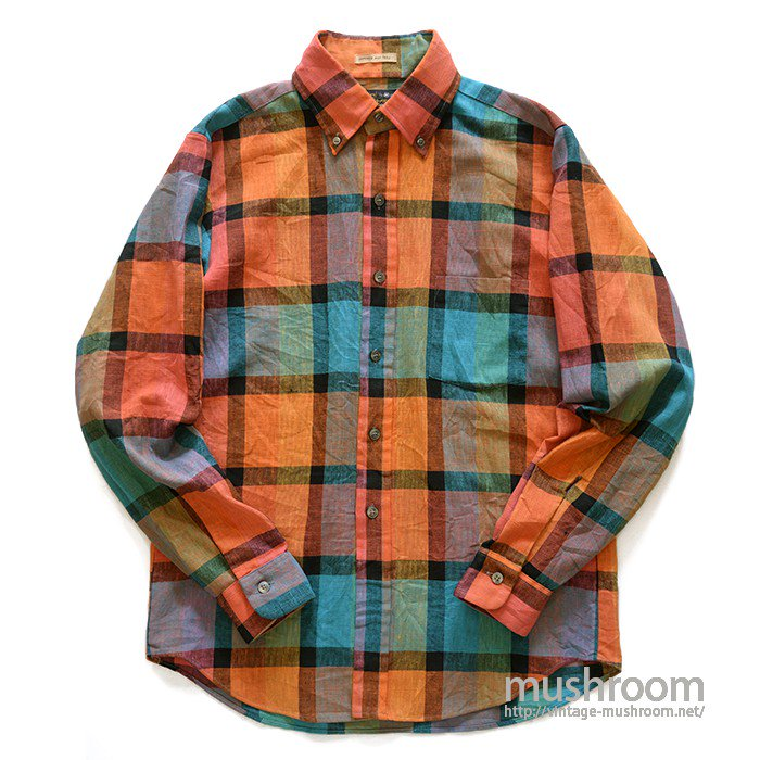 SEARS PLAID L/S BD SHIRT( M/MINT )