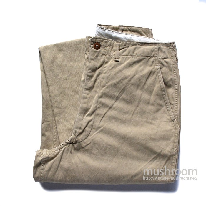 U.S.ARMY 45KHAKI CHINO TROUSERS( 33/33/MINT )