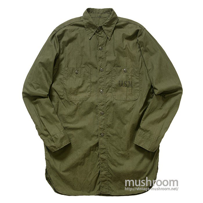U.S.NAVY POPLIN COTTON UTILITY SHIRT( 14H/MINT )