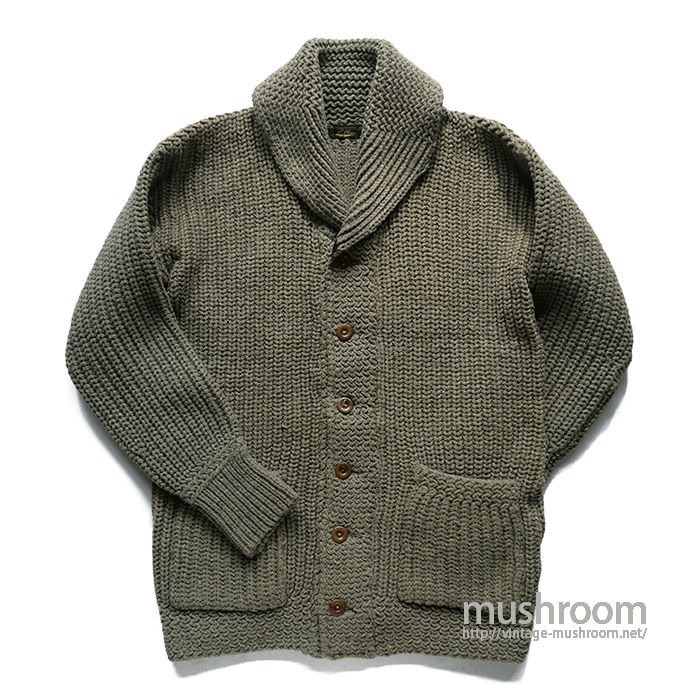 HIGHLAND SHAKER KNIT SHAWLCOLLER CARDIGAN( ALMOST DEADSTOCK )
