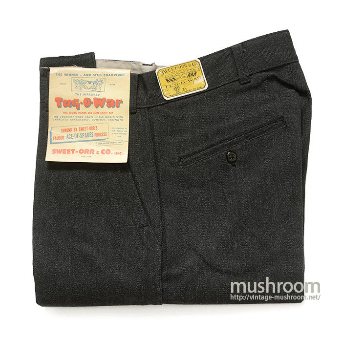 SWEET-ORR BLACK COVERT WORK TROUSER( 32/31/DEADSTOCK )