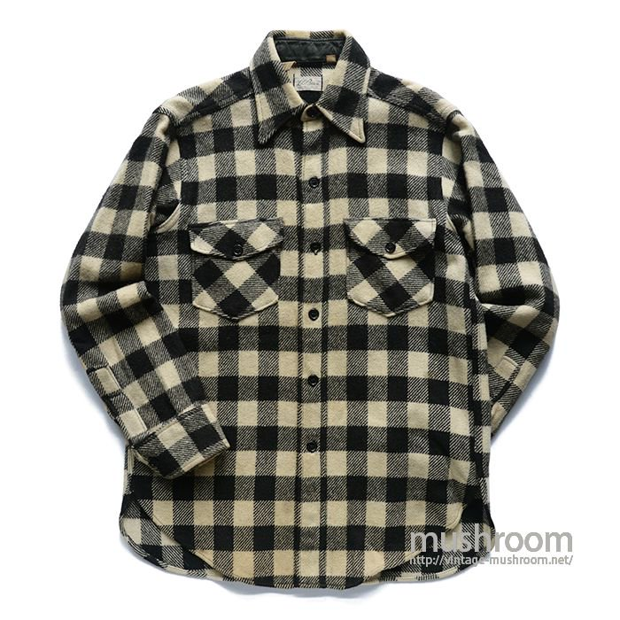 L.L.BEAN PLAID WOOL SHIRT