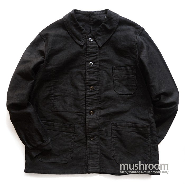 OLD BLACK MOLESKIN FRENCH WORK JACKET( MINT )