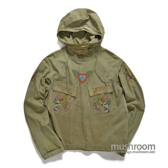 U.S.NAVY SALVAGE PARKA WITH HAND-PAINTED