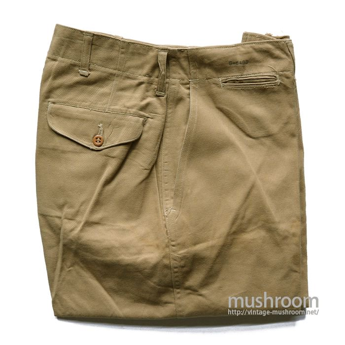 WW2 USMC CHINO TROUSER( 1M/DEADSTOCK )