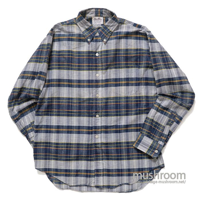 OLD PLAID MADRAS COTTON L/S BD SHIRT