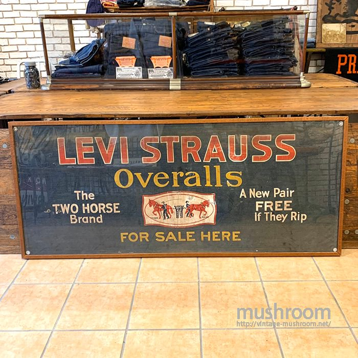 LEVI'S ADVERTISING DENIM BANNER