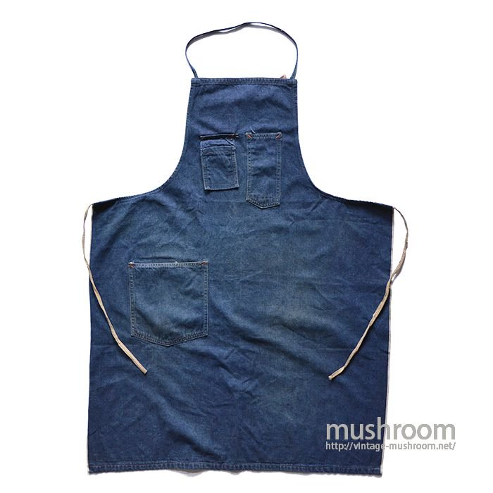 OLD DENIM WORK APRON( CONE DEEPTONE DENIM )